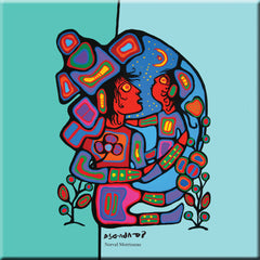 Norval Morrisseau Mother & Child Ceramic Tile-Trivet