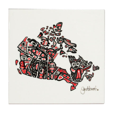 'Our Home and Native Land' Ceramic Tile-Trivet - Oscardo