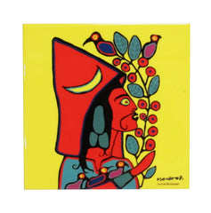 Norval Morrisseau Self Portrait Ceramic Tile-Trivet