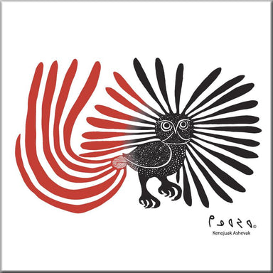 Kenojuak Ashevak Enchanted Owl Ceramic Tile-Trivet - Oscardo