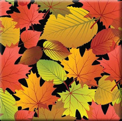 Fall Leaves - Black Ceramic Tile-Trivet