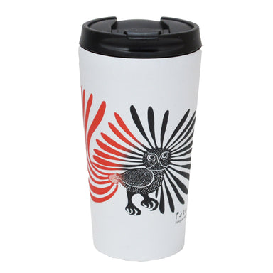 Kenojuak Ashevak Enchanted Owl Travel Mug - Oscardo
