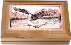 Eagle Rectangular Wooden Box