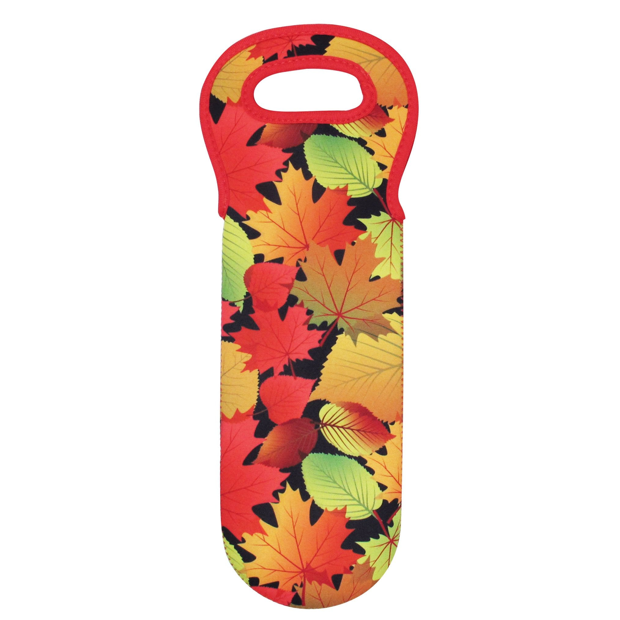 Fall Leaves Wine Bottle Carrier