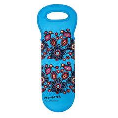 Norval Morrisseau Flowers and Birds Wine Bottle Carrier