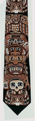 First Nations Icons Printed Silk Tie