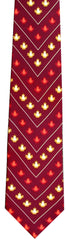 Chevron Maple Leaf Silk Tie