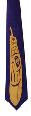 'Eagle Feather' Artist Design Silk Tie - Oscardo