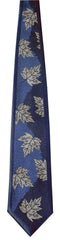 Pebbles Maple Leaf Woven Microfibre Tie