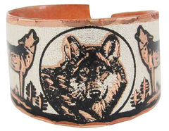 Wolf Copper Ring