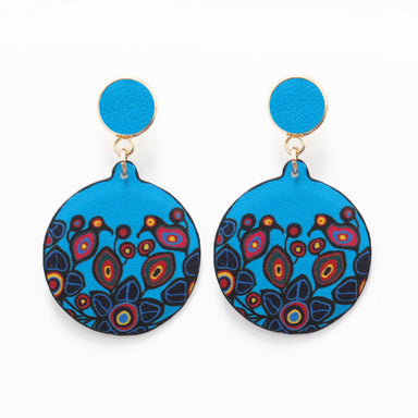 Norval Morrisseau Flowers and Birds Vegan Leather Earrings - available Oct 15, 2020 - Oscardo