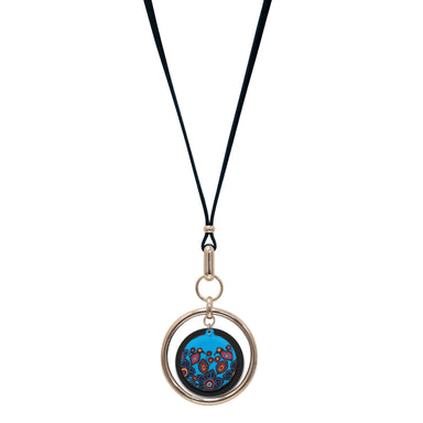 Norval Morrisseau Flowers and Birds Vegan Leather Necklace - available Oct 15, 2020 - Oscardo