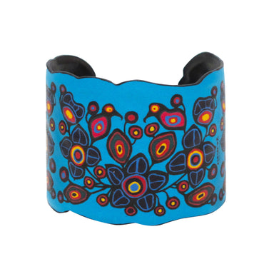 Norval Morrisseau Flowers and Birds Vegan Leather Bracelet - available Oct 15, 2020 - Oscardo