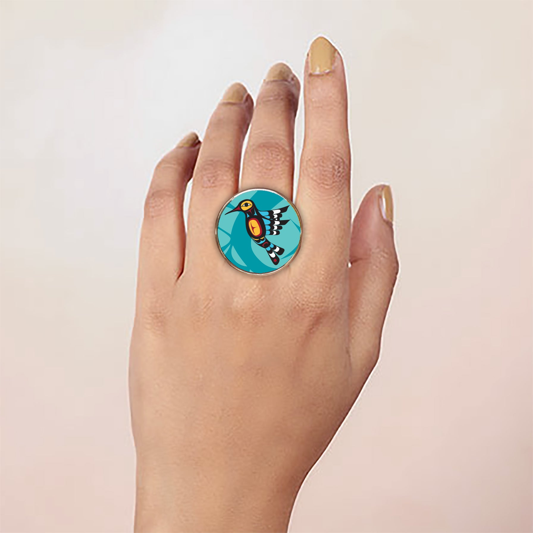 Francis Dick Hummingbird Vegan Leather Ring
