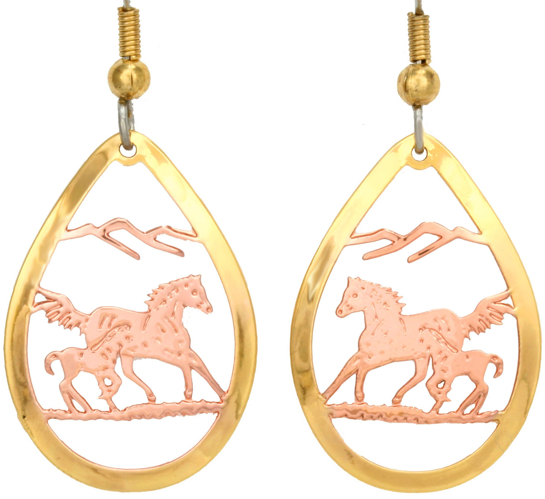 Horse Cut-out Earrings