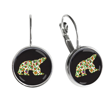 Dawn Oman Spring Bear Dome Glass Earrings - Oscardo