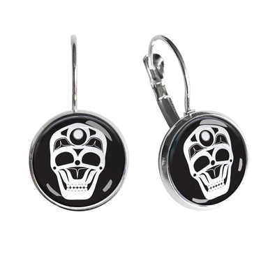 James Johnson Skull Dome Glass Earrings - Oscardo