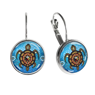 James Jacko Medicine Turtle Dome Glass Earrings - Oscardo