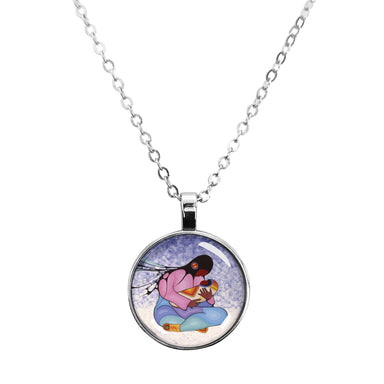 Cecil Youngfox Joyous Motherhood Dome Glass Necklace - Oscardo