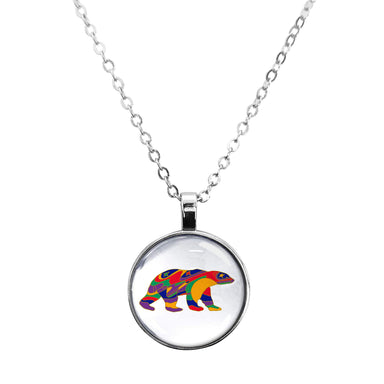 Dawn Oman Alpha Bear Dome Glass Necklace - Oscardo