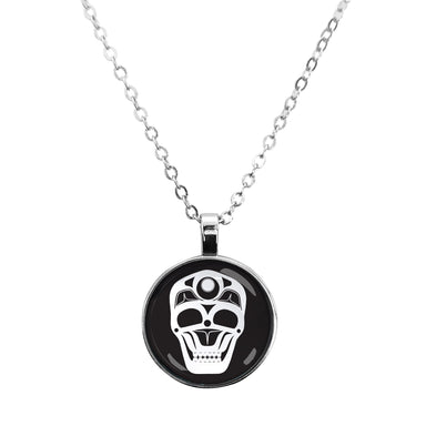 James Johnson Skull Dome Glass Necklace - Oscardo