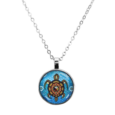 James Jacko Medicine Turtle Dome Glass Necklace - Oscardo
