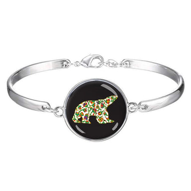 Dawn Oman Spring Bear Dome Glass Bracelet - Oscardo