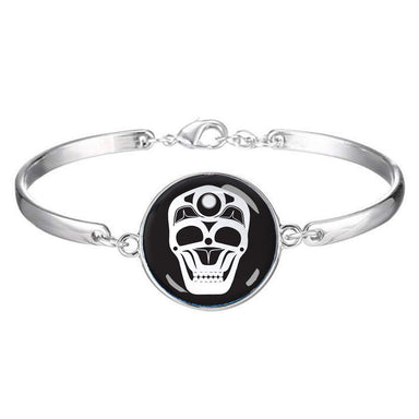 James Johnson Skull Dome Glass Bracelet - Oscardo