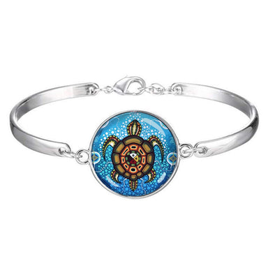 James Jacko Medicine Turtle Dome Glass Bracelet - Oscardo