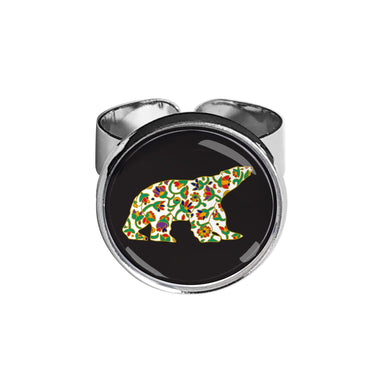 Dawn Oman Spring Bear Dome Glass Ring - Oscardo