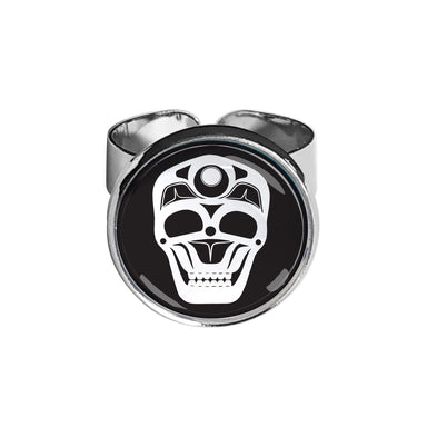 James Johnson Skull Dome Glass Ring - Oscardo