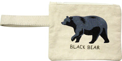 Black Bear Printed Eco-Pouch