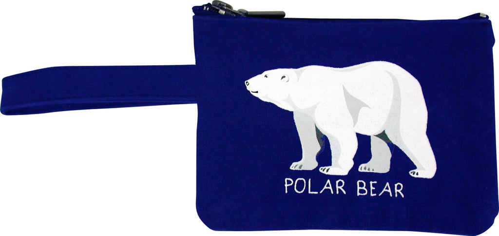 Polar Bear Printed Eco-Pouch