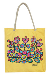 Norval Morrisseau Floral on Yellow Eco-Bag