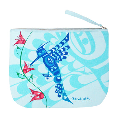 Francis Dick Peace, Love and Happiness Eco Zip Pouch - Oscardo