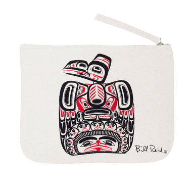 Bill Reid Children of the Raven Eco Zip Pouch - Oscardo