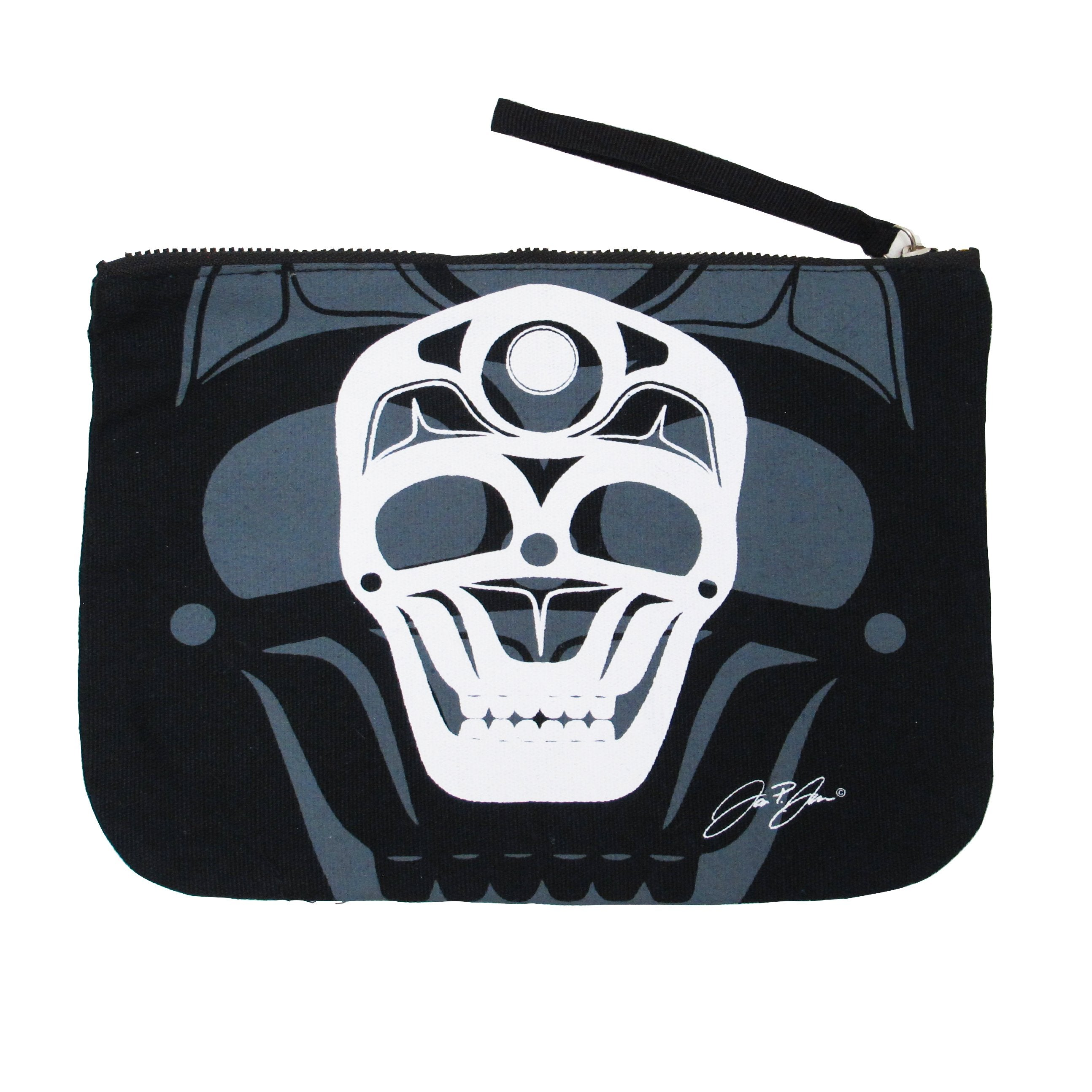 James Johnson Skull Eco Zip Pouch - Oscardo