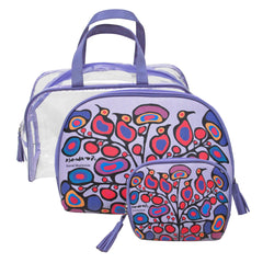Norval Morrisseau Woodland Floral Cosmetic Bag Set