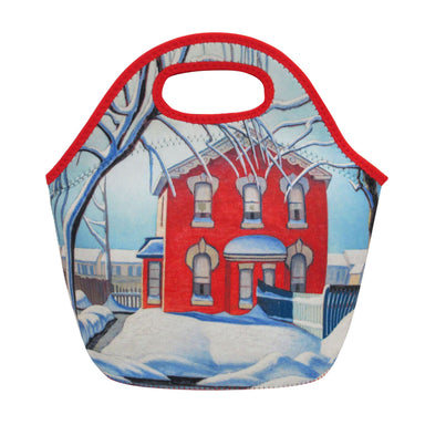 Lawren Harris Red House in Winter  Insulated Lunch Bag - Oscardo