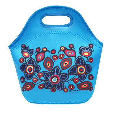 Norval Morrisseau Flowers and Birds Insulated Lunch Bag - Oscardo