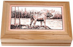 Moose Rectangular Wooden Box
