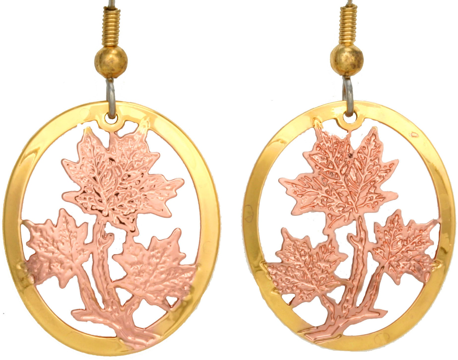Maple Leaf Cut-out Earrings - Temporarily Out of Stock