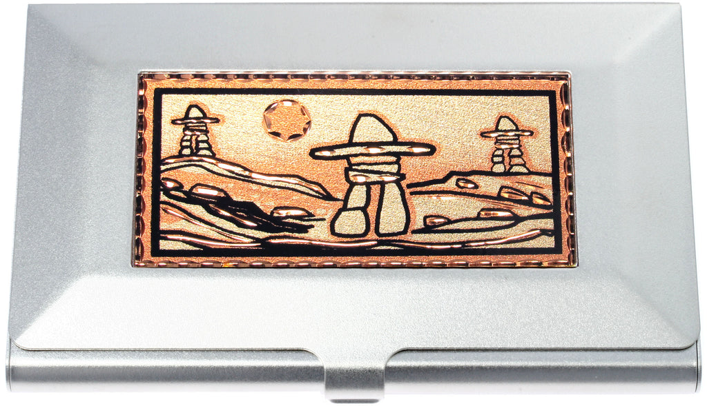 Native Inukshuk Business-Credit Card Case