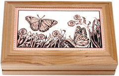 Butterfly Rectangular Wooden Box