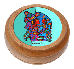 Norval Morrisseau Mother & Child Artist Round Box