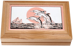 Dolphin Rectangular Wooden Box