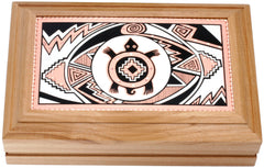 Native Turtle Rectangular Wooden Box