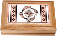 Native Wheel of Life Rectangular Wooden Box