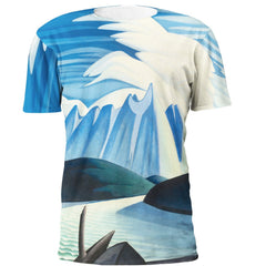 Lawren Harris Lake and Mountains Full Print Art T-Shirt