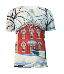 Lawren Harris Red House in Winter Full Print Art T-Shirt